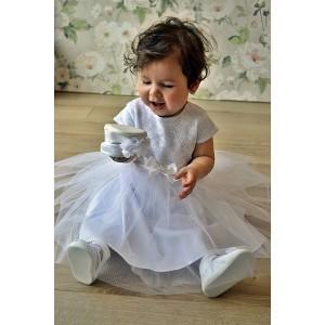 Sukienka do chrztu Gabi z krótkim rękawem