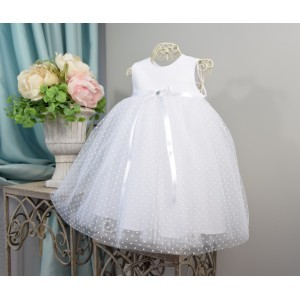 Sukieneczka do chrztu Sonia - groszki