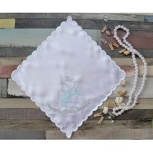 Szatka do chrztu Aniołek niebiesko-srebrny
