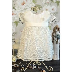 Sukienka do chrztu Rozalia - ecru