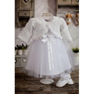 Komplet do chrztu Sabi - Sukienka + Bolerko