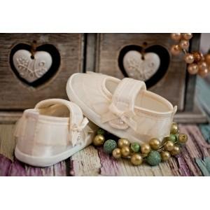 Pantofelki ecru
