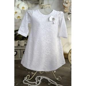 Sukienka do chrztu Ala z długim rękawem