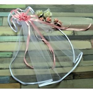 Różany Bukiecik różowy - chrzczonka do chrztu