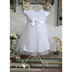 Sukieneczka do chrztu Gabi (krótki rękaw)